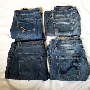 Size 10 Upcycle Denim Bundle - 4 Pairs of Jeans